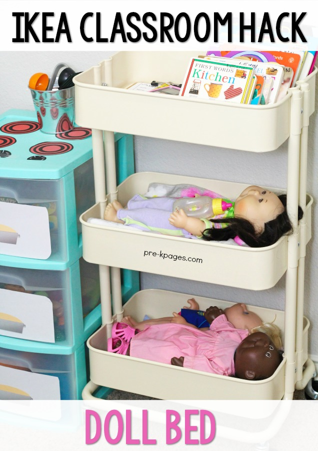 Ikea Raskog Cart Doll Bed for Preschool Pretend Play