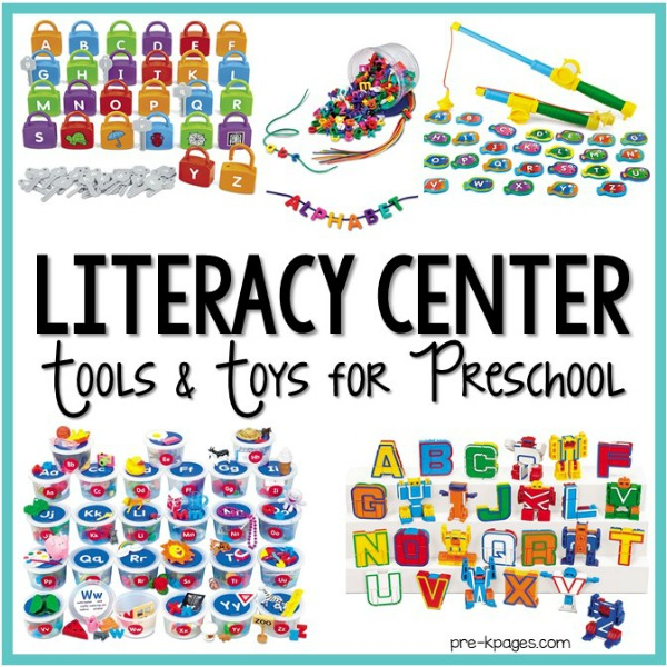 Literacy Center Tools And Toys For Preschool - Pre-K Pages