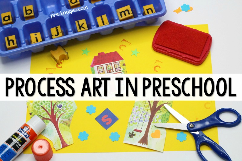 Process Art Collage in Preschool