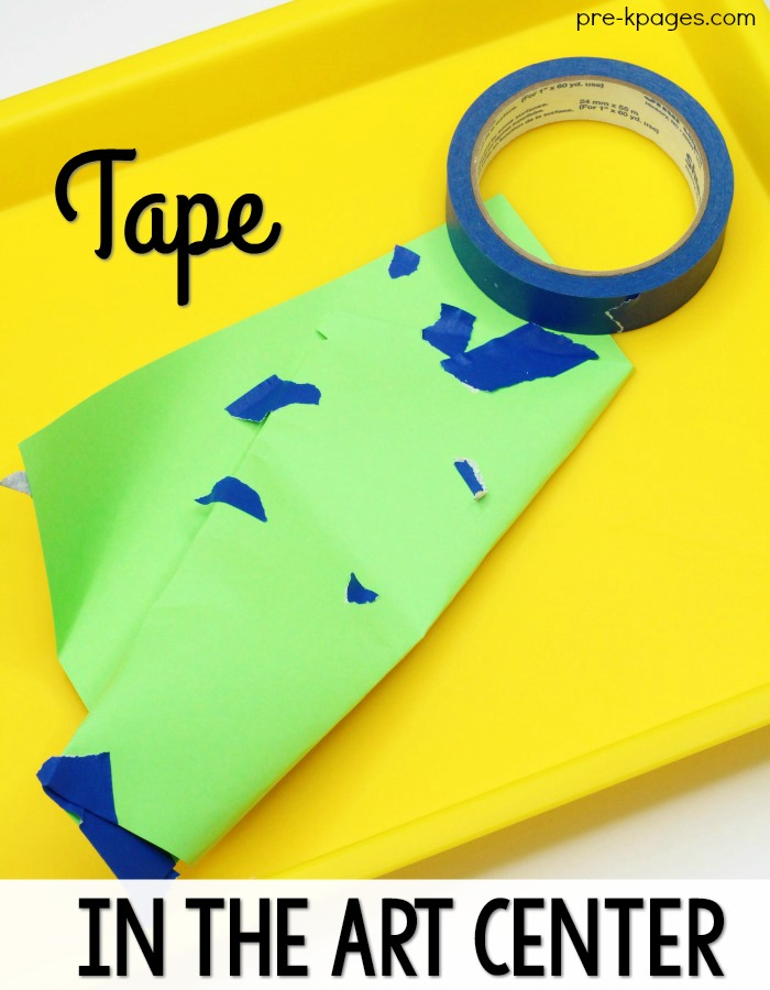Tape in the Preschool Art Center