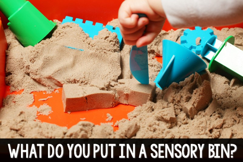 What do you put in a sensory bin in preschool