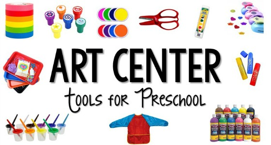 Art Center Tools for Preschool