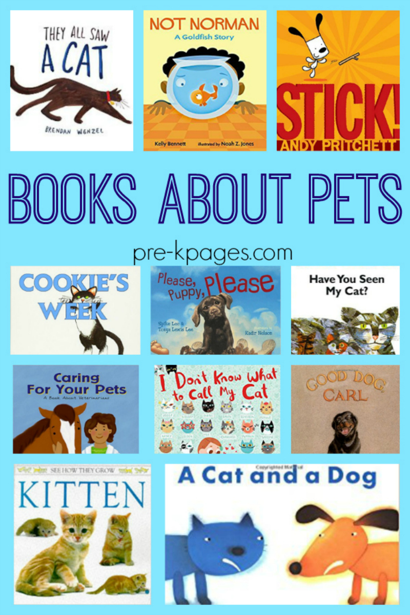 Books About Pets for Preschool - Pre-K Pages