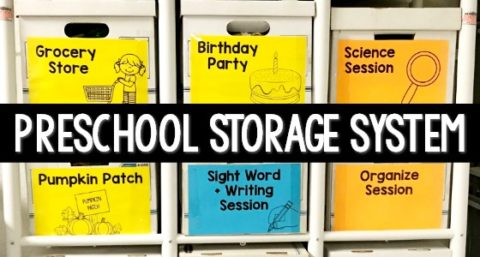 Dramatic Play Theme Storage System for Preschool
