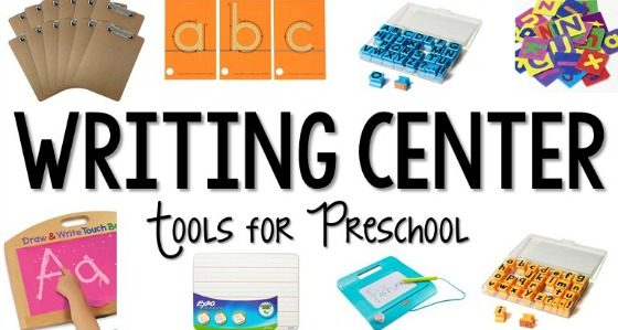 Writing Center Set Up in Preschool
