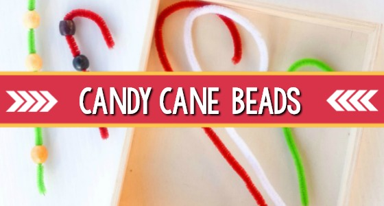 Candy Cane Beads Fine Motor Activity