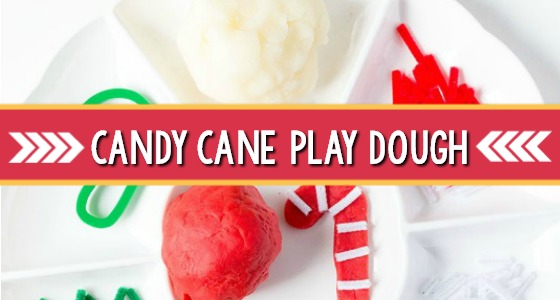 Candy Cane Playdough Activity