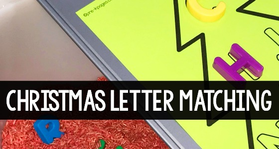 Christmas Letter Matching Printable for Preschool Sensory Bin