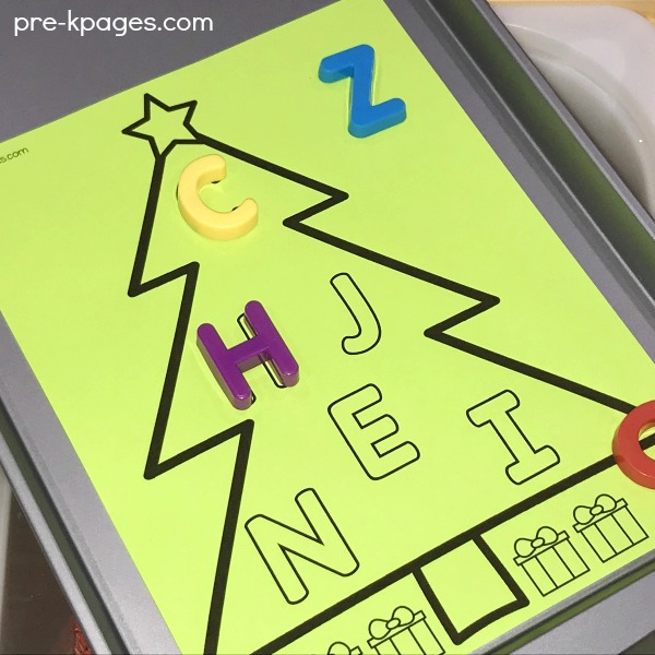 Christmas Letter Matching Printable for Preschool