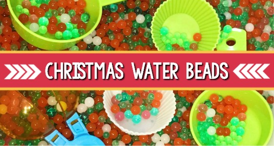 Christmas Water Beads Sensory Bin