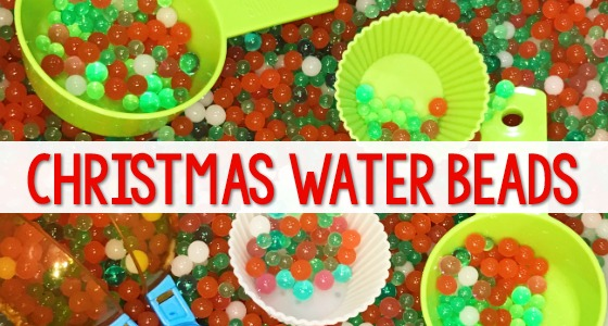 Christmas Water Beads for Sensory Play in Preschool