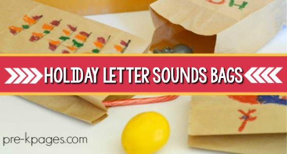 Holiday Letter Sounds Bags
