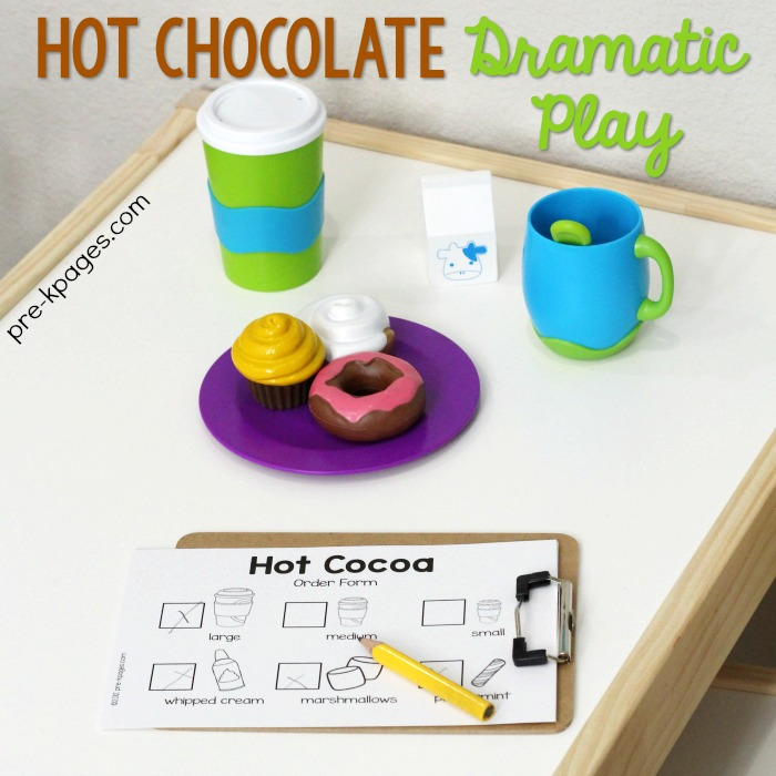 Hot Chocolate Ice Skating Rink Pretend Play for Preschool