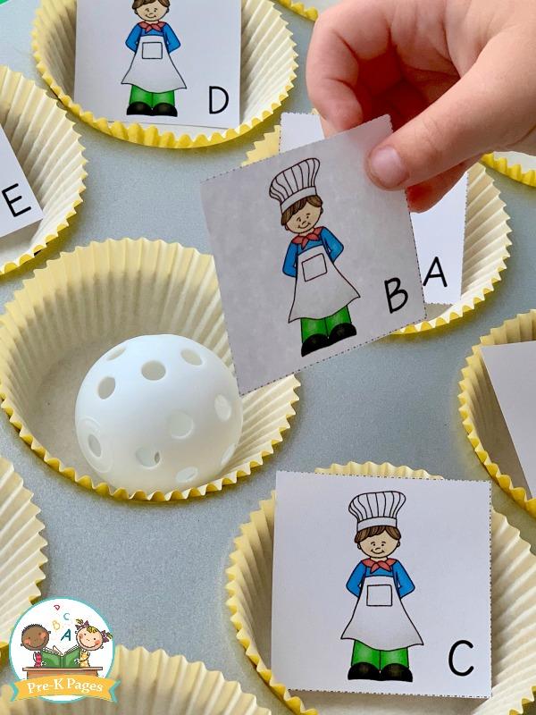 nursery rhyme alphabet game preschool