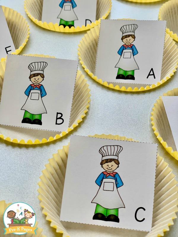 Muffin Man alphabet activity kindergarten
