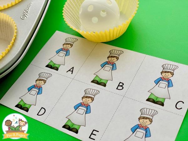 Muffin Man pre-k literacy gross motor