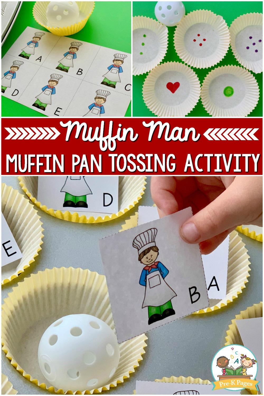 Muffin Man Tossing Activity for preschool