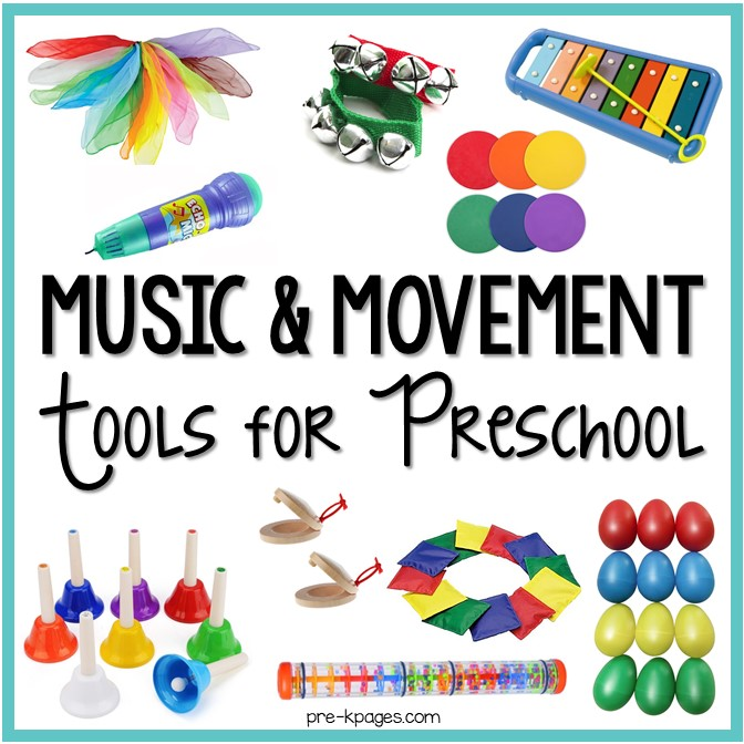 Music and Movement Tools and Toys for Preschool