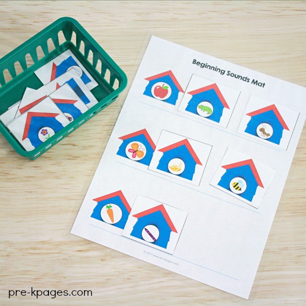 Pet Theme Beginning Sounds Activity