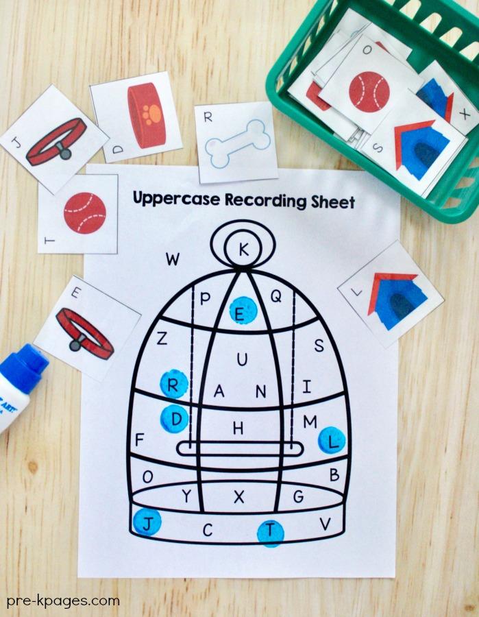Pet Theme Printable Alphabet Game for Preschool
