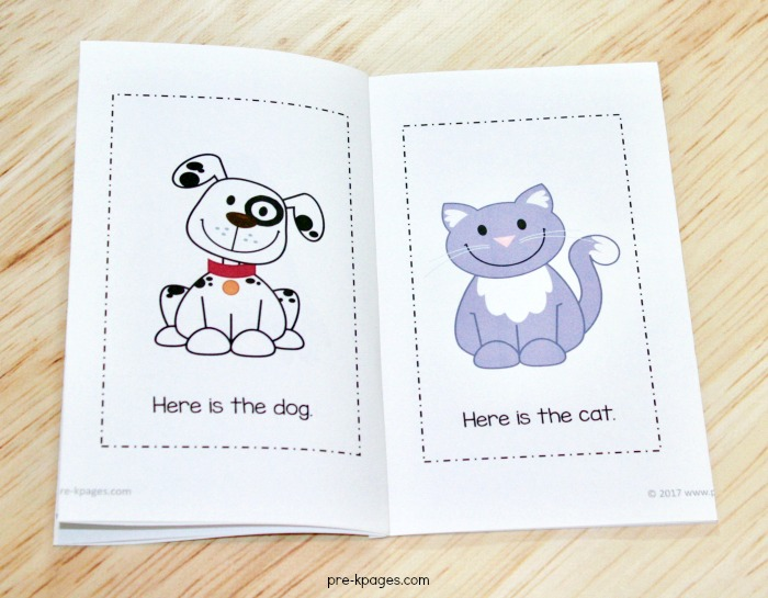 Pet Theme Printable Emergent Reader for Preschool and Kindergarten