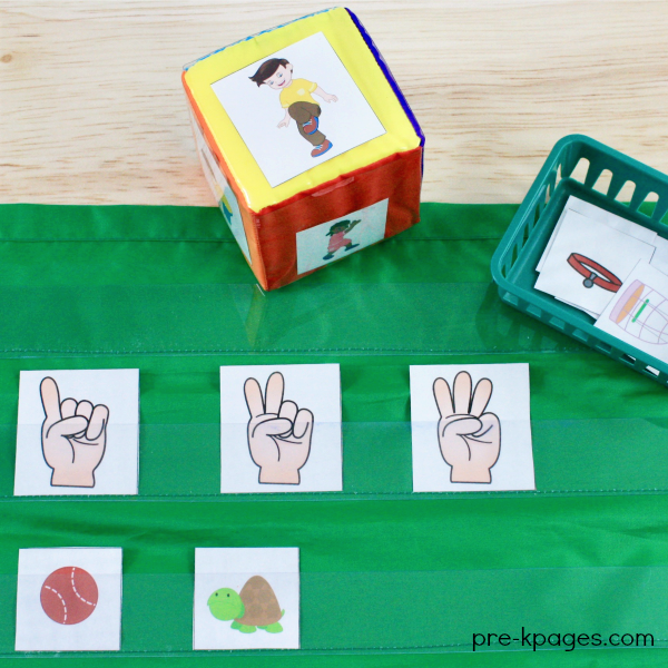 Pet Theme Printable Syllable Game for Preschool