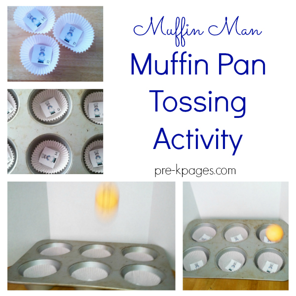 muffin pan tossing activity pre-k