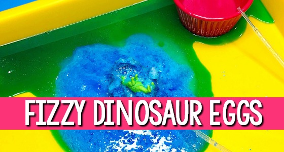 Dinosaur Eggs Fizzy Science Experiment