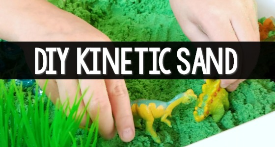DIY Kinetic Sand Recipe for Kids