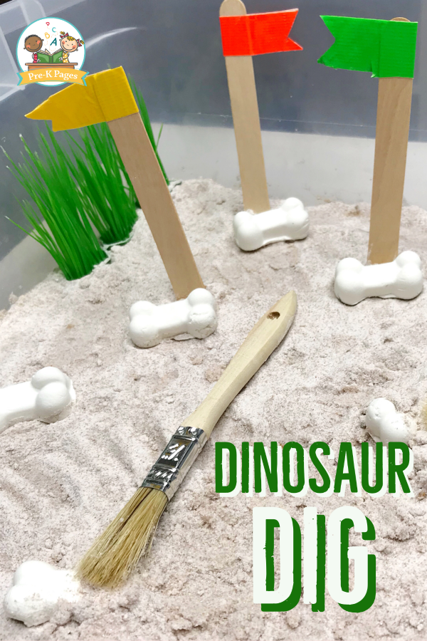 Digging for Dinosaur Bones in Preschool