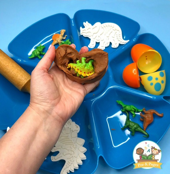 Dinosaur Play Dough Activity for Preschoolers