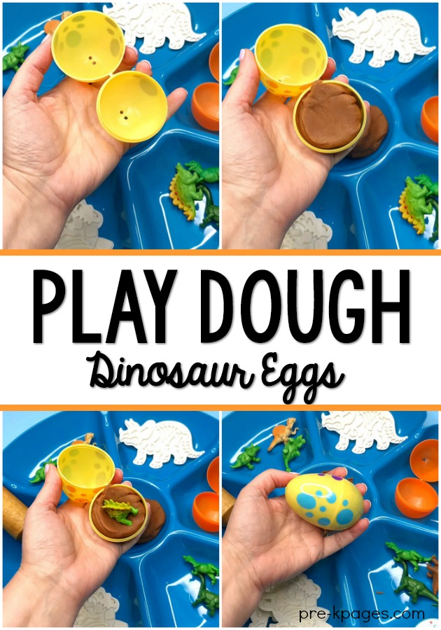 Dinosaur Play Dough Activity