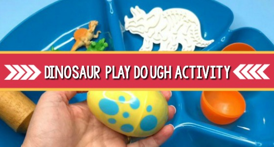 Dinosaur Play Dough Eggs