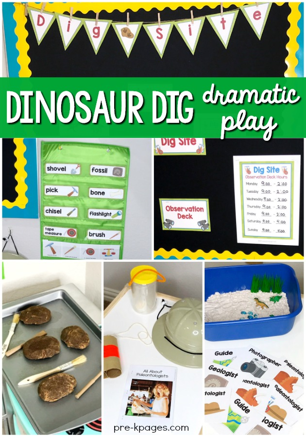 Dinosaur Pretend Play Props for Preschool