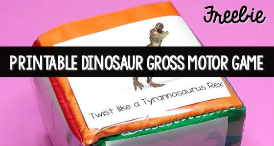 Dinosaur Roll and Move Gross Motor Activity