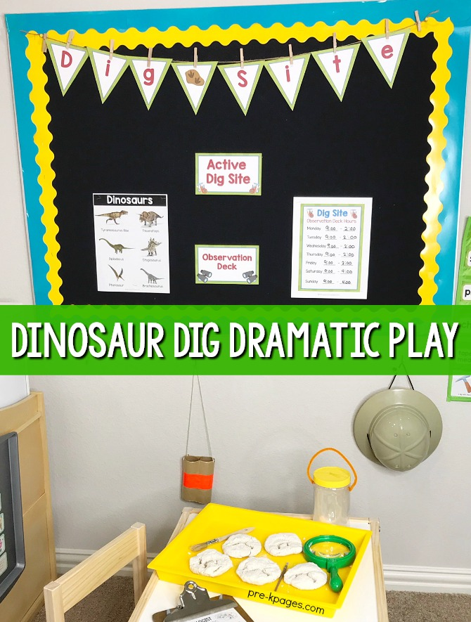 Dinosaur Theme Dramatic Play Theme for preschool
