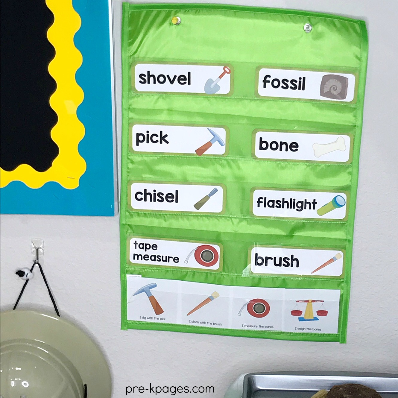 Dinosaur Theme Word Cards for Preschool