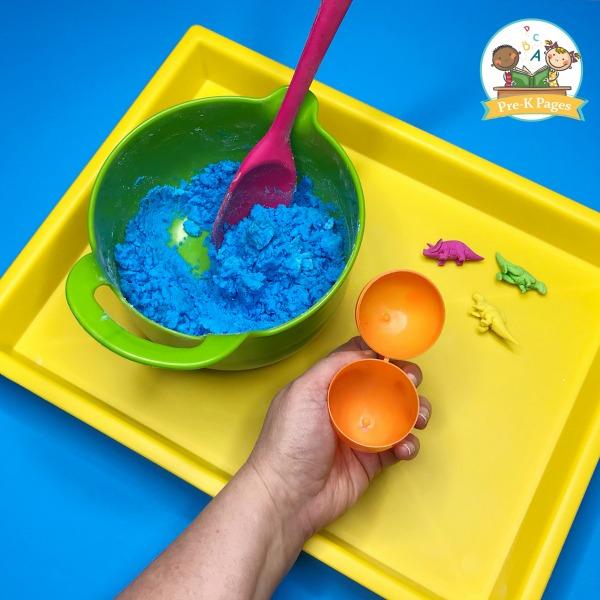 Fizzy Dinosaur Eggs Science Experiment for Preschool