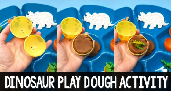 Hatching Play Dough Dinosaur Eggs