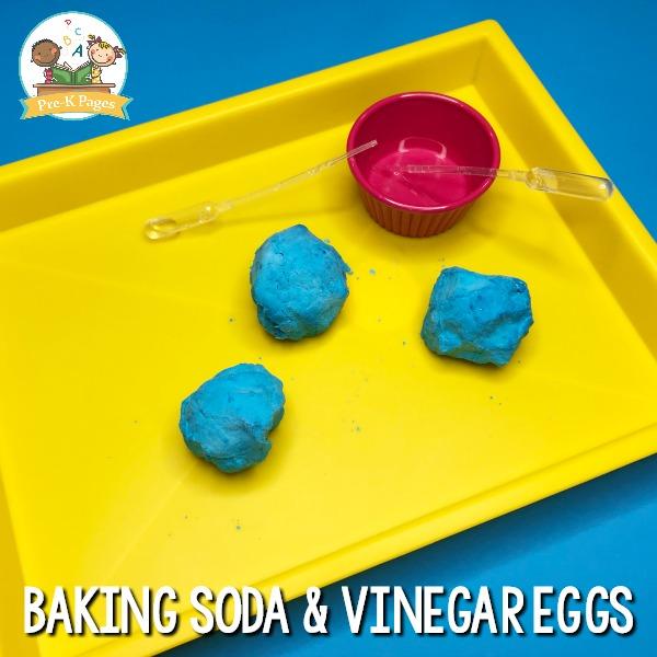 How to Make Baking Soda and Vinegar Dinosaur Eggs