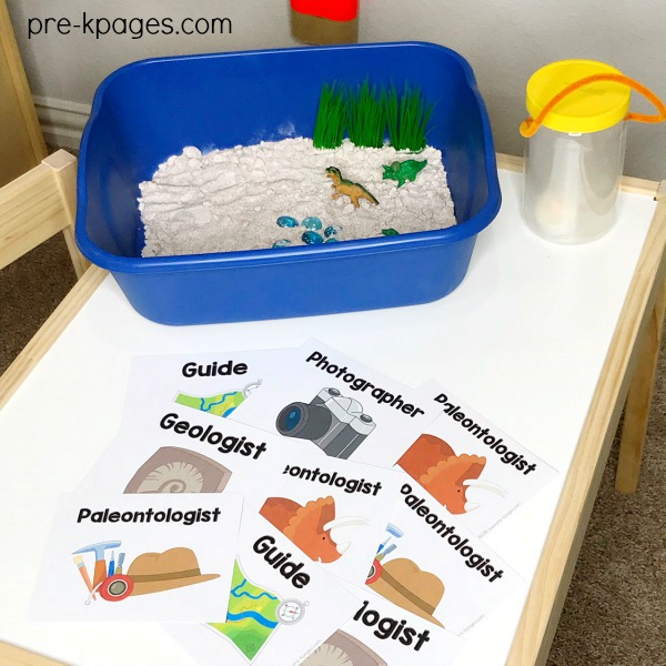 Name Tags for Dinosaur Dig Dramatic Play