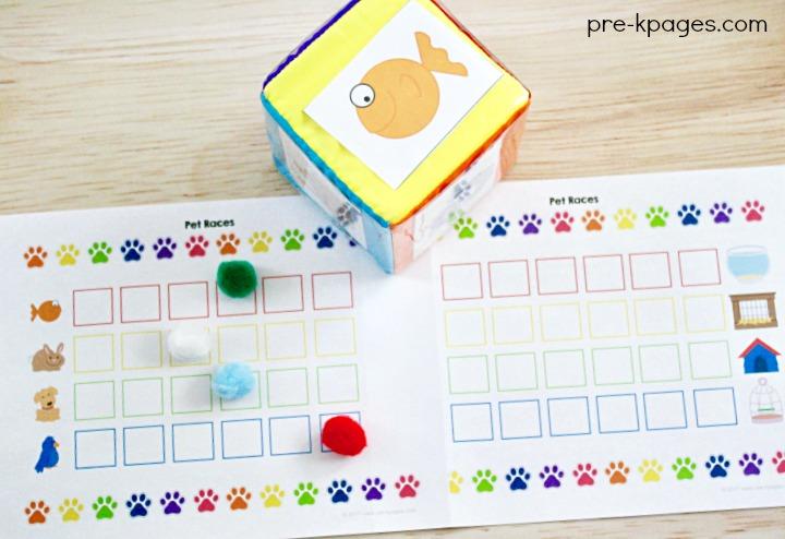 Pet Theme Board Game for Preschool