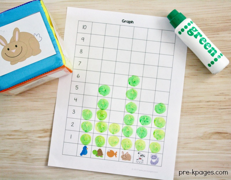 Pet Theme Graph Activity for Preschool