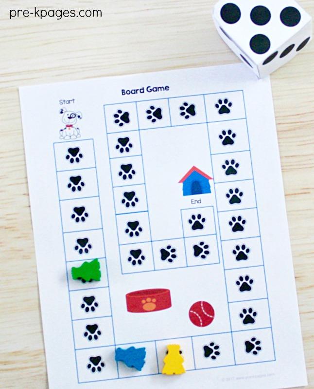 Pet Theme Path Game for Preschool