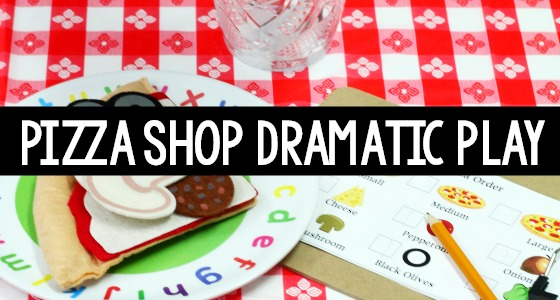 Pizza Restaurant Dramatic Play for Preschool