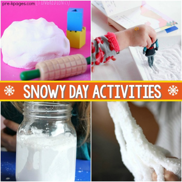 Preschool Activities Snowy Day