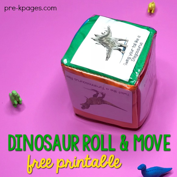 Printable Dinosaur Roll and Move Cards
