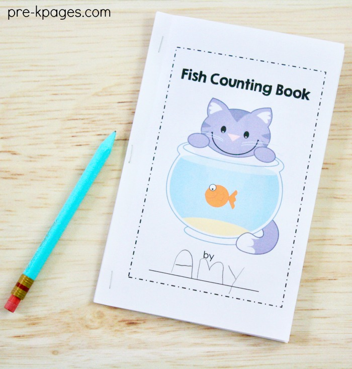 Printable Pet Theme Counting Book for Preschool
