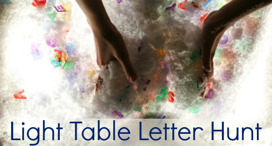 Light Table Letters Hunt