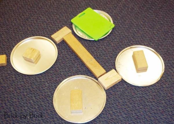 pizza pans and blocks preschool
